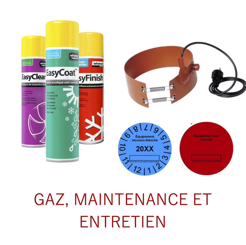 Gaz, maintenance et entretien
