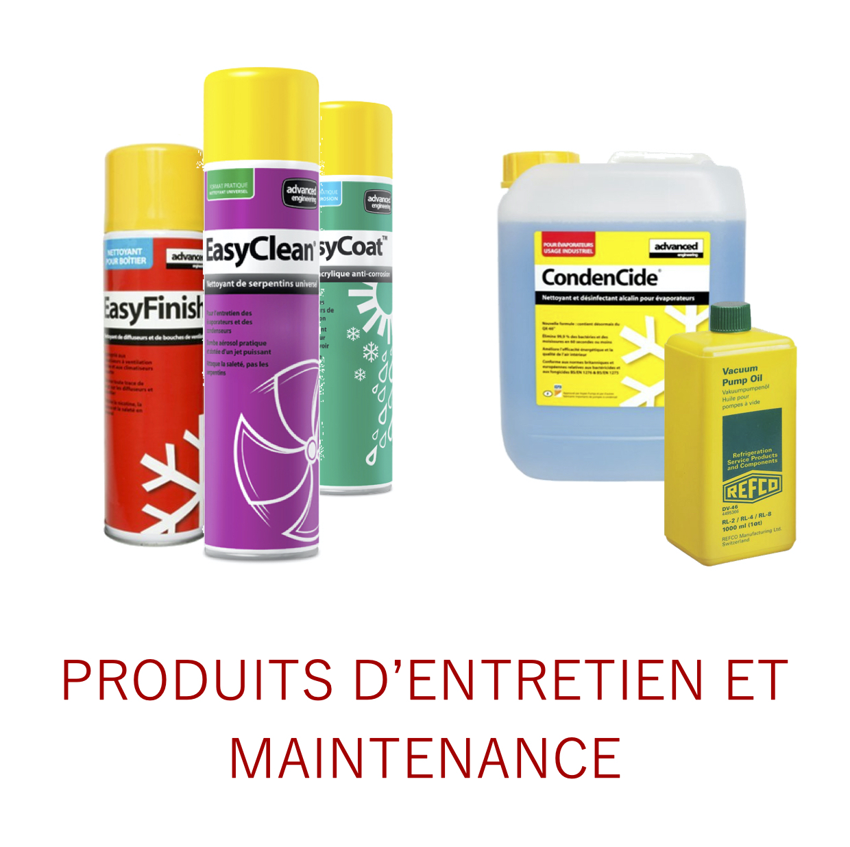 Produits d'entretien et maintenance
